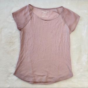 American Eagle Light Pink Festival T